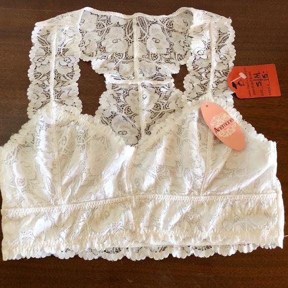 b9c1279143 Anemone Lace Racerback Bralette Size S M 32B NWT